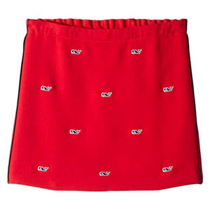 Vineyard Vines Red Blue Embroidered Whale Skirt